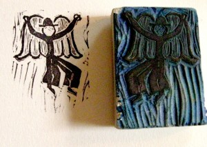 Bowler-hat Angel Stamp