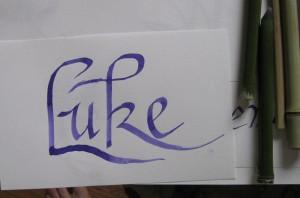 Luke calligraphy