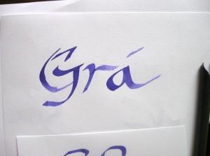 Gra calligraphy