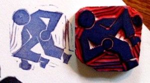 Boxing Man Stamp