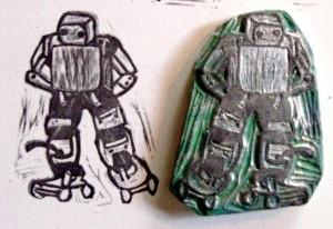Skating Robot Stamp