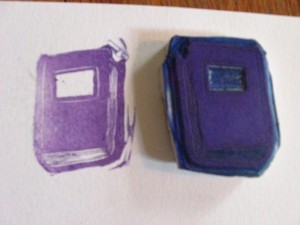 book cut rubber stamp