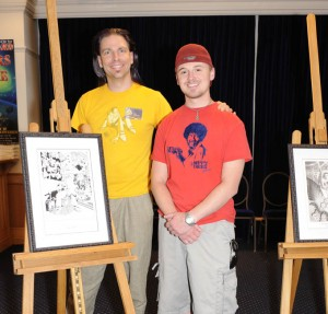 Me with my artist, Ryan Behrens